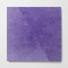Ultra Violet Oil Pastel Color Accent Metal Print