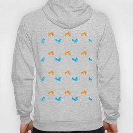 Walk On - Blue and Orange Feet Pattern Hoody
