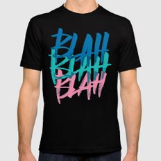 BLAH BLAH BLAH Mens Fitted Tee MEDIUM Black