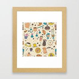 Spicy coffee Framed Art Print
