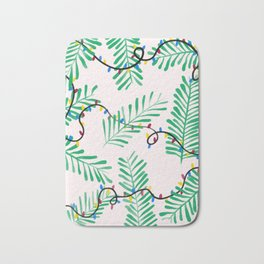 Leafy Holiday Lights Bath Mat