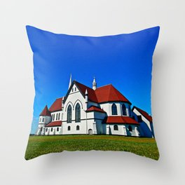 St. Mary's Church rear view Throw Pillow