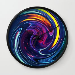 Flambe Liquide Wall Clock