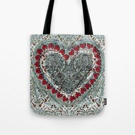 Winter Heart Tote Bag