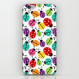 Lots of Crayon Colored Ladybugs iPhone Skin