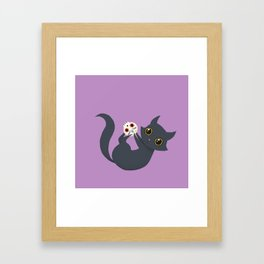 Kitty sugar skull Framed Art Print
