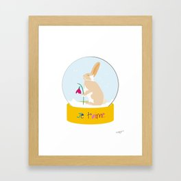 Snow globe - Je T'aime Framed Art Print