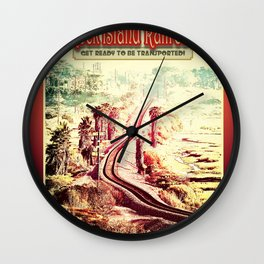 Rock Island Railroad Poster Wall Clock