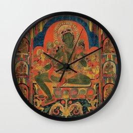 Hindu Krishna Tapestry Wall Clock
