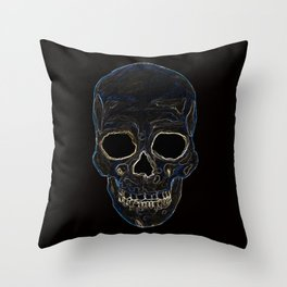 Neon Skull Throw Pillow