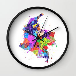 Colombia Map Wall Clock