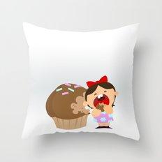 greedy Throw Pillow