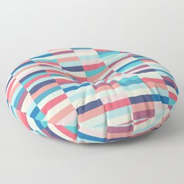 Blue and pink stripes Floor Pillow