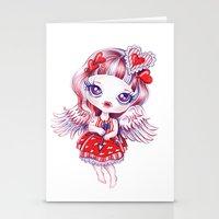 valentina Stationery Cards featuring Valentina by Sandra Vargas