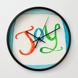 Joy and Color Wall Clock