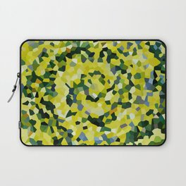 Yellow and Blue Crystallized Swirls Laptop Sleeve