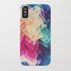 Geometry Triangle Wave Multicolor Mosaic Pattern - (HDR - Low Poly Art) iPhone X Slim Case