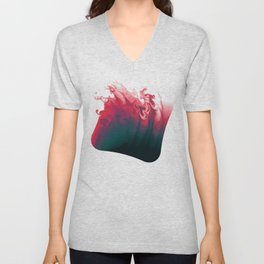 Escaping color abstract digital illustration  Unisex V-Neck