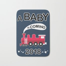 A baby is coming Bath Mat