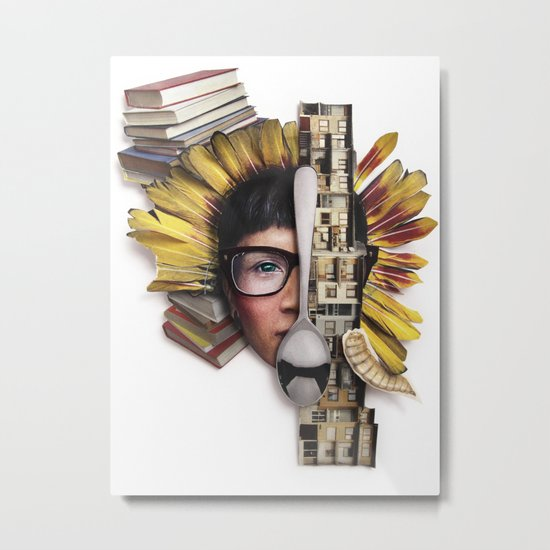 Timber | Collage Metal Print