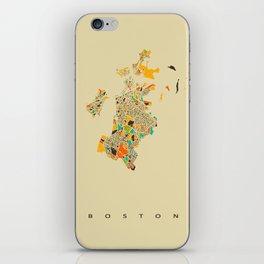 Boston map iPhone Skin