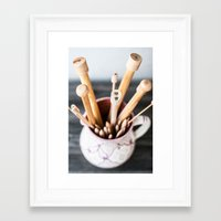 knitting Framed Art Prints featuring Knitting by Josefin Johnsson