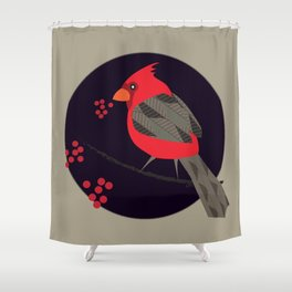 Cardinal Song Shower Curtain