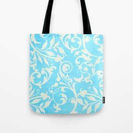 Shabby Chic Aqua Damask Tote Bag