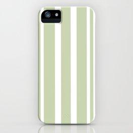 Plain Seafoam Green and White Stripes Design iPhone Case