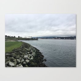 Burrard Inlet in January Canvas Print