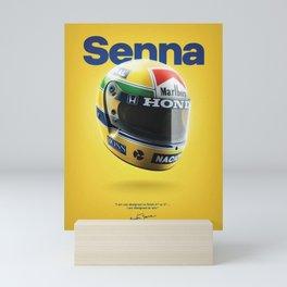 Ayrton Senna Helmet 1988 Mini Art Print