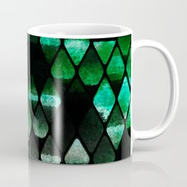 Abstract rhombuses - jungle version Coffee Mug