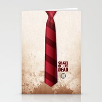 shaun of the dead Stationery Cards featuring SHAUN OF THE DEAD by VineDesign