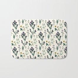 Wild Flower Print Bath Mat