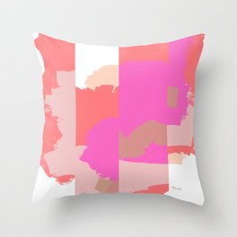 Disconnect an abstract impression Throw Pillow