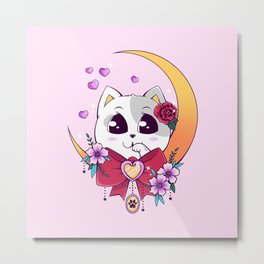 Romantic Cat Metal Print