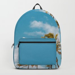 Palm trees and blue sky  - Tropical summer landscape Backpack