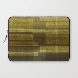 """Burlap Texture Greenery Shades"" Laptop Sleeve"