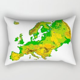 Topographical Relief Map of the Continent of Europe Rectangular Pillow