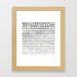 Black Dots II Framed Art Print