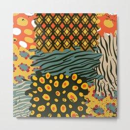 Colorful African Animal Pattern Metal Print