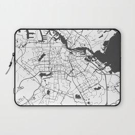 Amsterdam White on Gray Street Map Laptop Sleeve