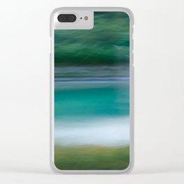 Sweeping Turquoise Lake Clear iPhone Case