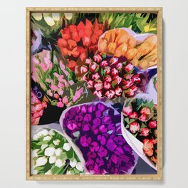 bunches of Tulips Serving Tray