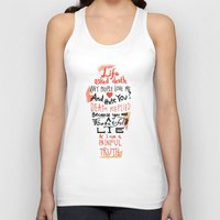 zappa Tank Tops featuring Life asked death... by Picomodi