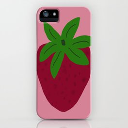 Friendly strawberry iPhone Case