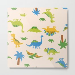 Dinosaurs colorfull Metal Print