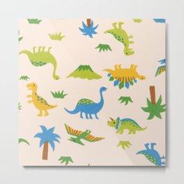 Dinosaurs colorfull Metal Print