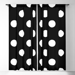 Polkadot (White & Black Pattern) Blackout Curtain