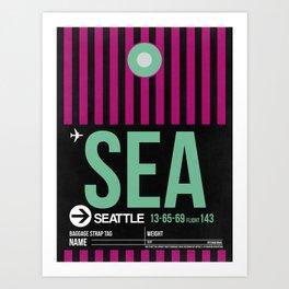 SEA Seattle Luggage Tag 2 Art Print